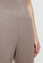 Superbalist - Sleep cami & wide leg pants - mocha