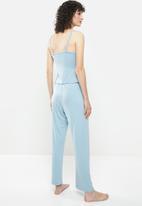 Superbalist - Sleep cami & wide leg pants - dusty blue