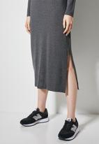 Superbalist - Shoulder pads column dress - dark  grey