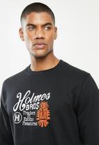 Holmes Bro's - Exotic basic sweat - black