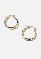 Rubi - Premium everyday hoop - gold plated tubular