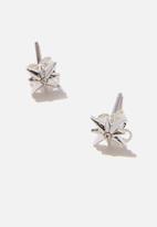 Rubi - Premium stud earrings - sterling silver plated