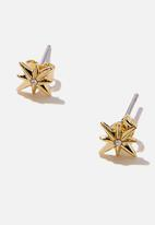 Rubi - Premium stud earrings - gold plated