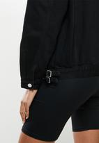 Missguided - Buckle detail jacket - black
