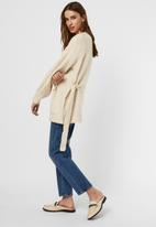 Vero Moda - Julie  long sleeve belt cardigan - birch