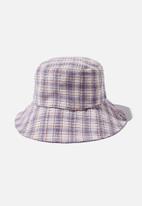 Rubi - Bianca bucket hat - blue & blush