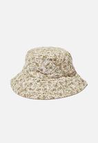 Rubi - Elly reversible wide brim bucket hat - pink & green