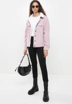 Cotton On - Sherpa cord trucker jacket - lilac