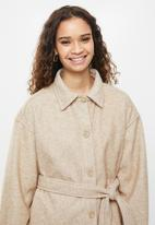 Cotton On - The belted shacket - oatmeal
