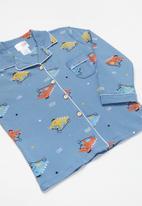 POP CANDY - Boys printed sleepset - blue