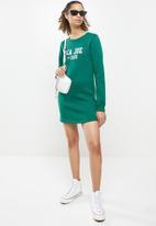 Aca Joe - Basic crew terry dress - green