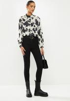 Glamorous - Highneck blouse - neutral & black