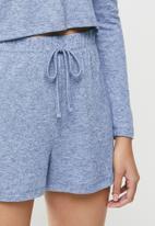 Blake - Soft touch hoodie+ short - blue