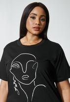 Superbalist - Graphic tee - black