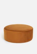 Sixth Floor - Lila round ottoman - rust