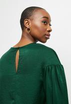 MILLA - Dropped shoulder blouse - emerald