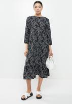Glamorous - Tiered midi dress - black