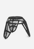 H&S - Rattan stool - black