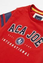 Aca Joe - Big-boys short sleeve tee - red