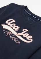 Aca Joe - Pre-girls long sleeve tee - navy