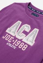 Aca Joe - Big-girls long sleeve tee - purple
