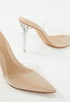 Missguided - Perspex court shoe - nude