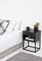 Sixth Floor - Mika bedside - black