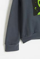 POP CANDY - Hooded graphic sweatshirt - charcoal