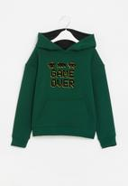 POP CANDY - Younger boys graphic printed hoodie - green