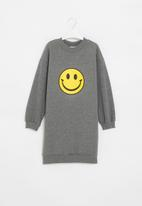 Superbalist - Girls fleece sweater dress - grey