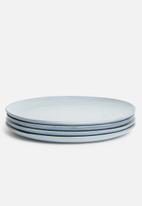 Sixth Floor - Blurr dinner plate set of 4 - blue