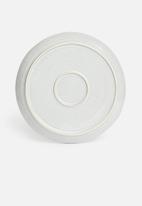 Sixth Floor - Ripple dinner plate set of 4 - grey
