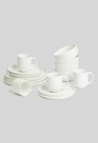Sixth Floor - Crisp dinner plate set of 4 - white