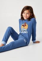 Cotton On - Orlando long sleeve pyjama set licensed - blue