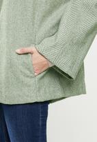 POLO - Hazel swing coat - heringbone