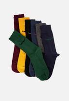 Trendyol - Moustache 7 pack socks - multi