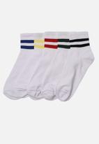 Trendyol - Stripe 5 pack socks - white