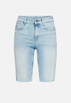G-Star RAW - 4311 noxer high slim shorts - sun faded topaz blue