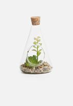 H&S - Natural stones glass pot 4 - green