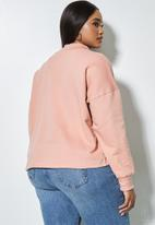 Superbalist - Crop funnel neck - dusty pink