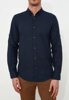 Trendyol - Plain long sleeve shirt - navy
