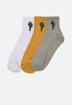 Trendyol - Cactus 3 pack socks - multi