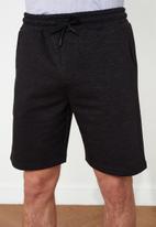 Trendyol - Plain sweatshorts - black
