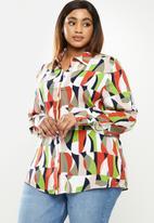 POLO - Plus Jennifer long sleeve print shirt - multi
