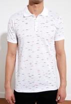 Trendyol - Patterned short sleeve golfer - white