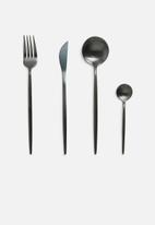 Finery - cutlery set 24pc - carbon black