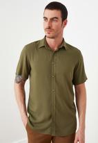 Trendyol - Plain short sleeve shirt - khaki