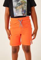Flyersunion - 2 pack fleece short - orange & blue