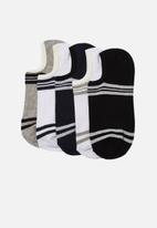 Trendyol - Stripe 5 pack no show socks - multi
