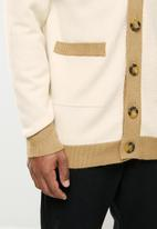 Jonathan D - Button down cardigan - stone